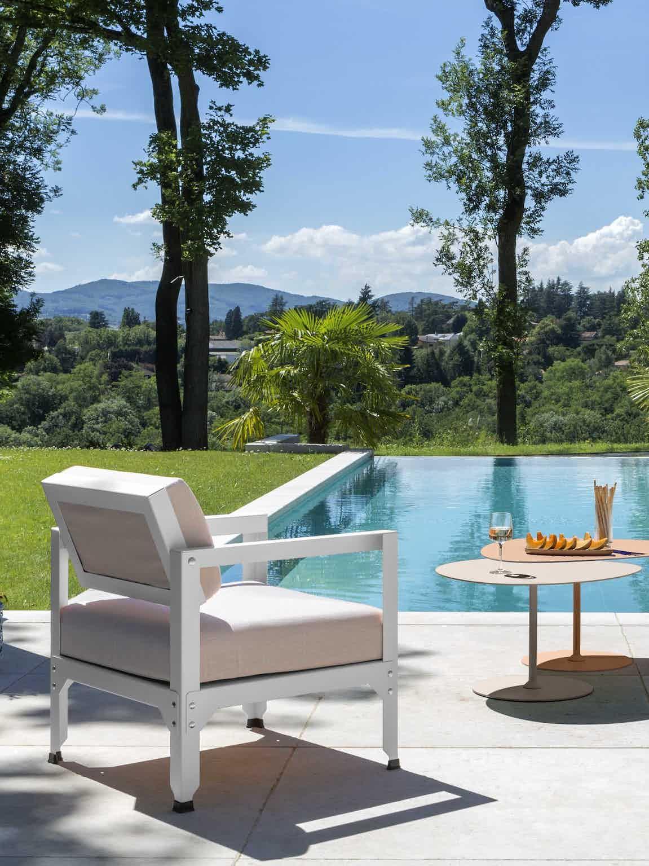 Matiere grise luc jozancy hegoa fauteuil exterieur salon jardin terrasse tissu outdoor