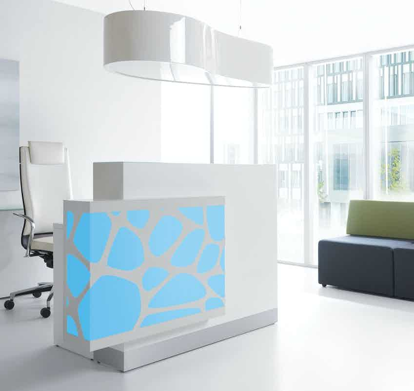 Mdd furniture organic reception desk blue1 haute living