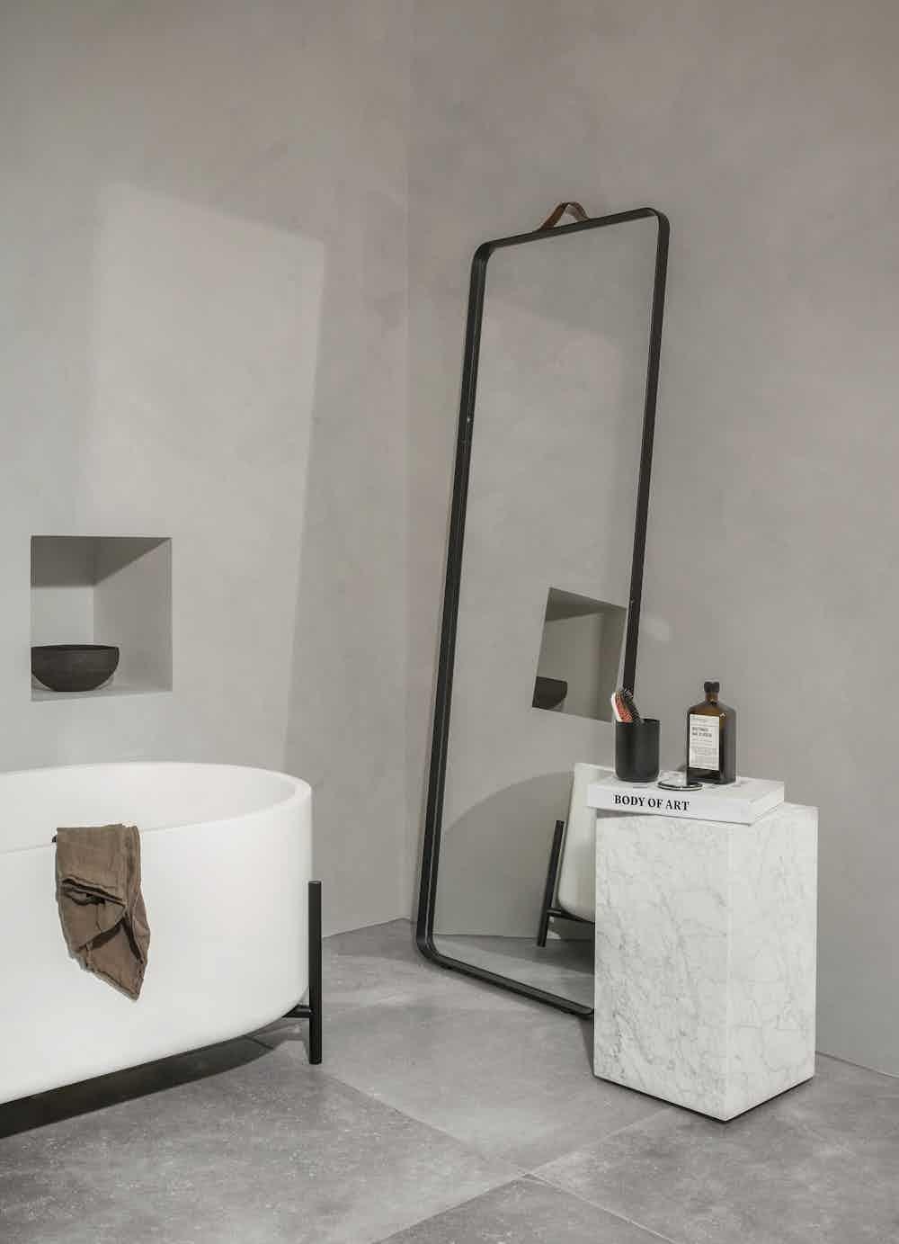 Menu furniture plinth tall white insitu haute living