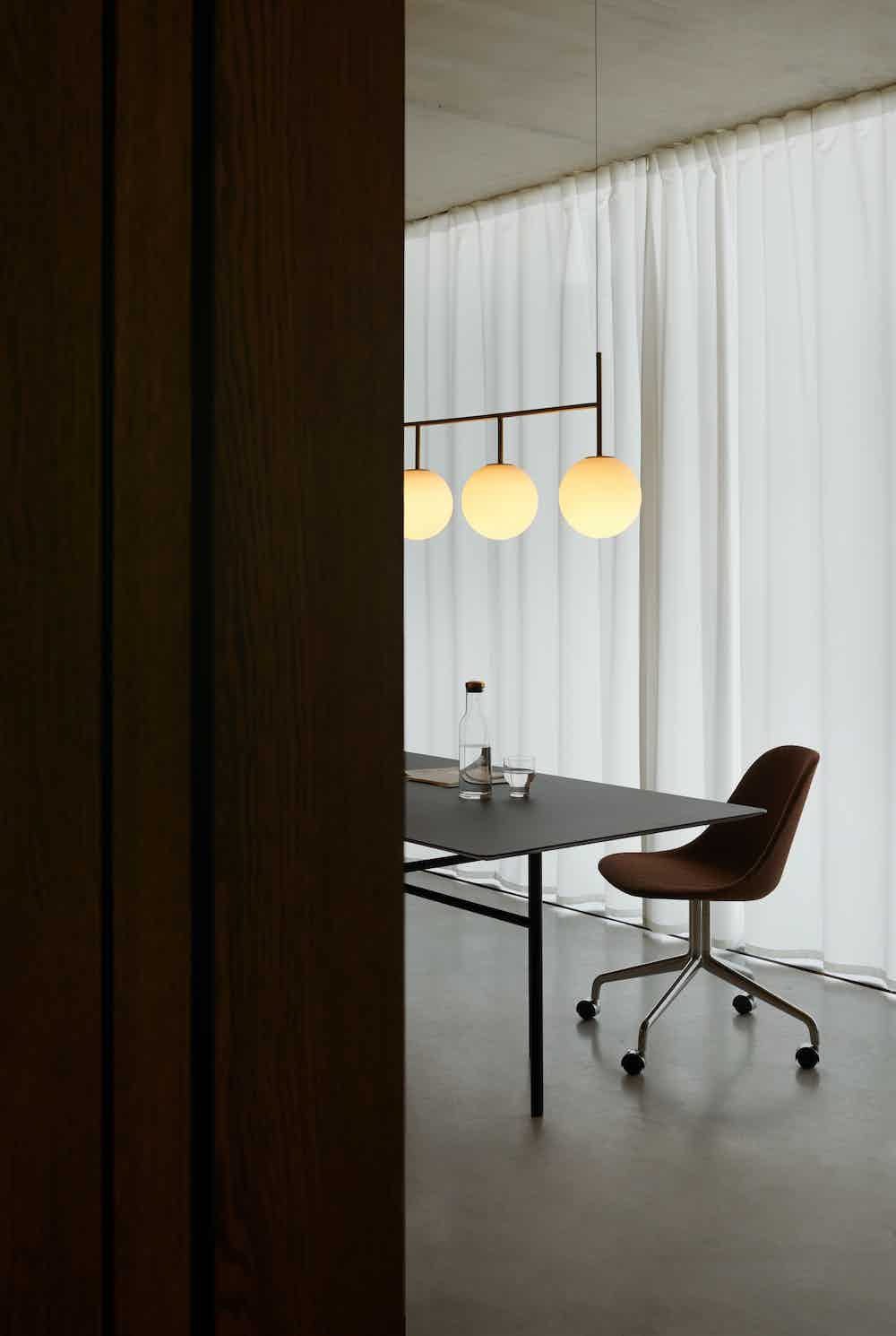 Menu furniture tr bulb suspension frame insitu lit haute living