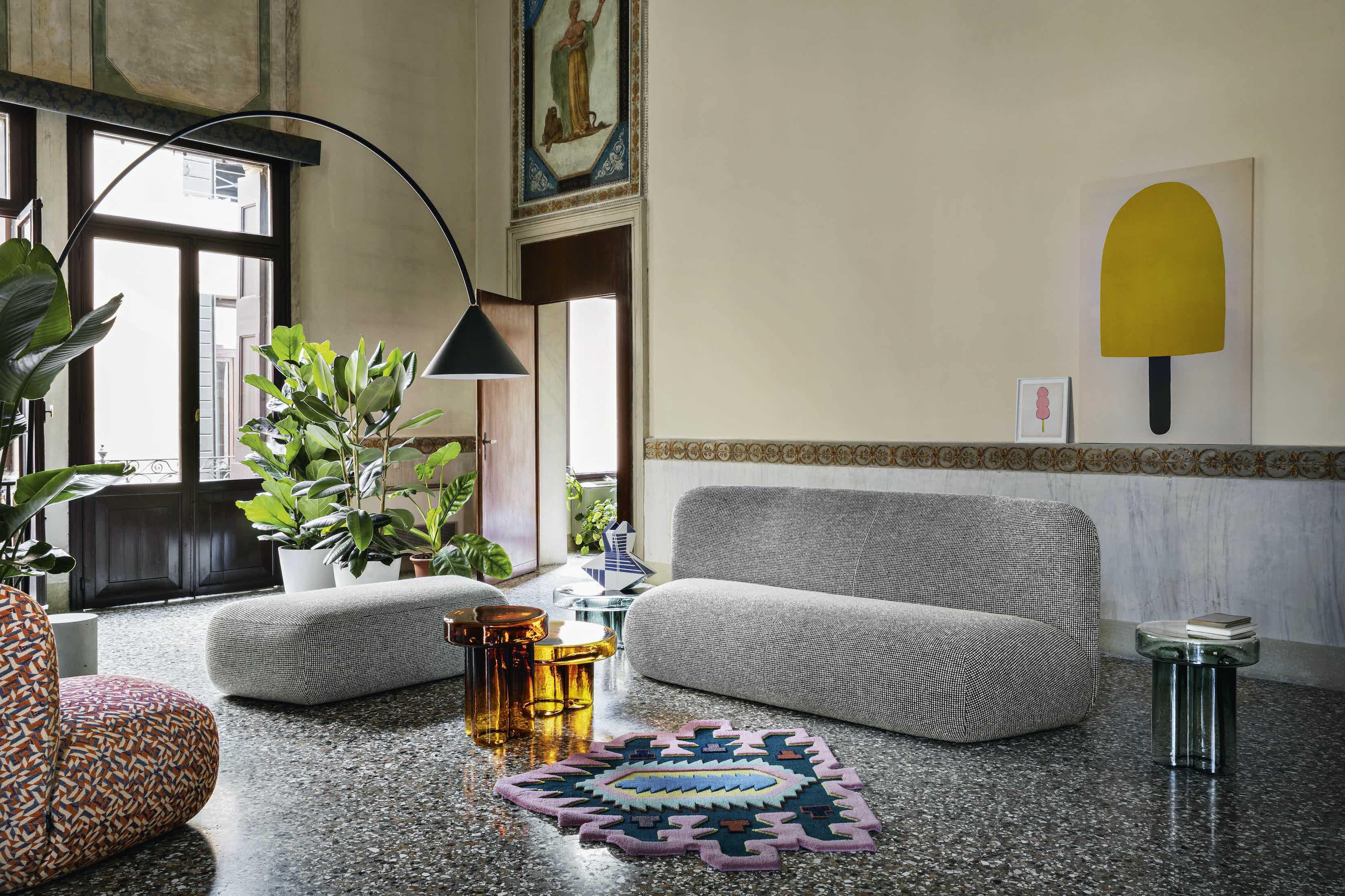 Miniforms botera sofa grey insitu haute living