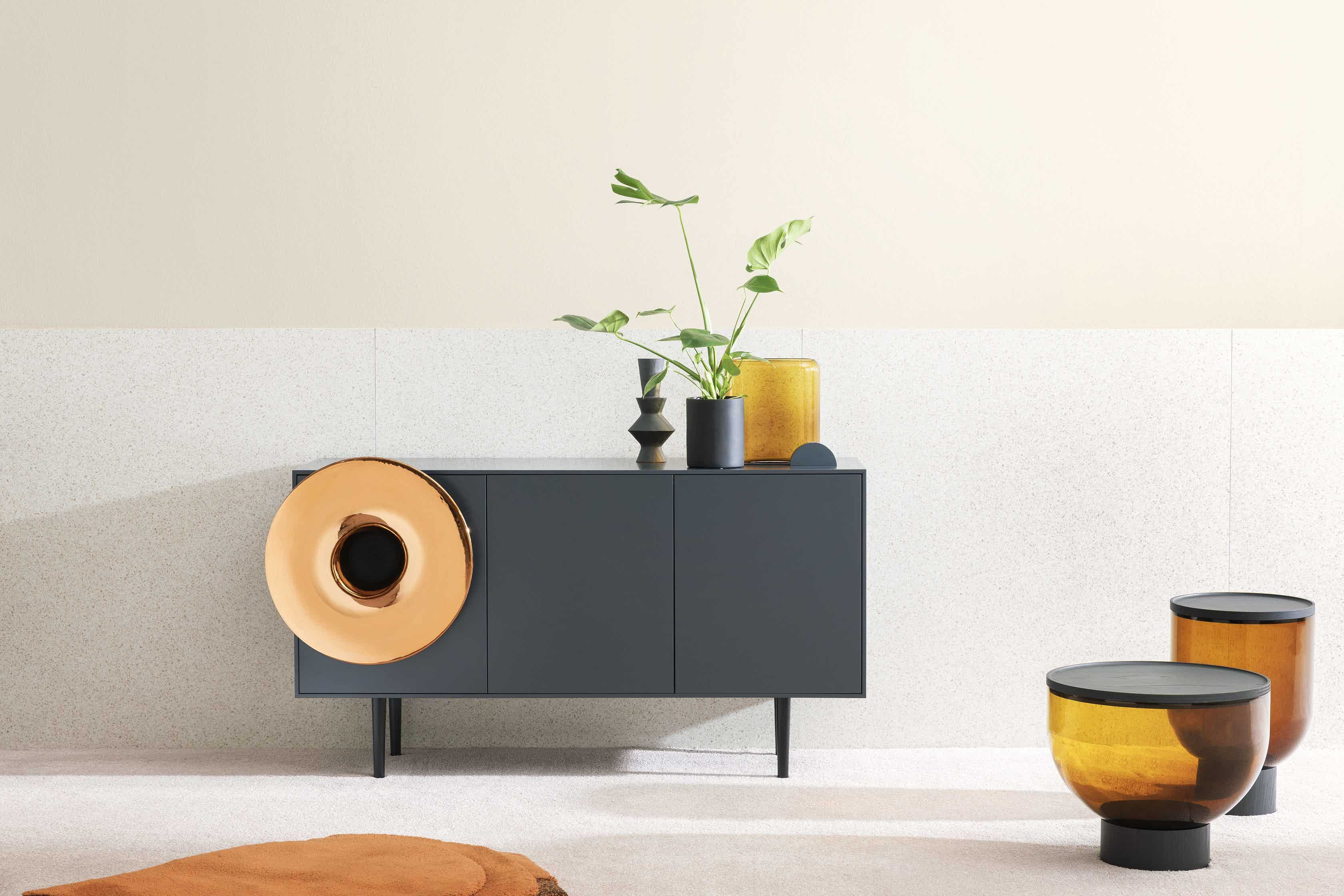Miniforms caruso sideboard grey center haute living