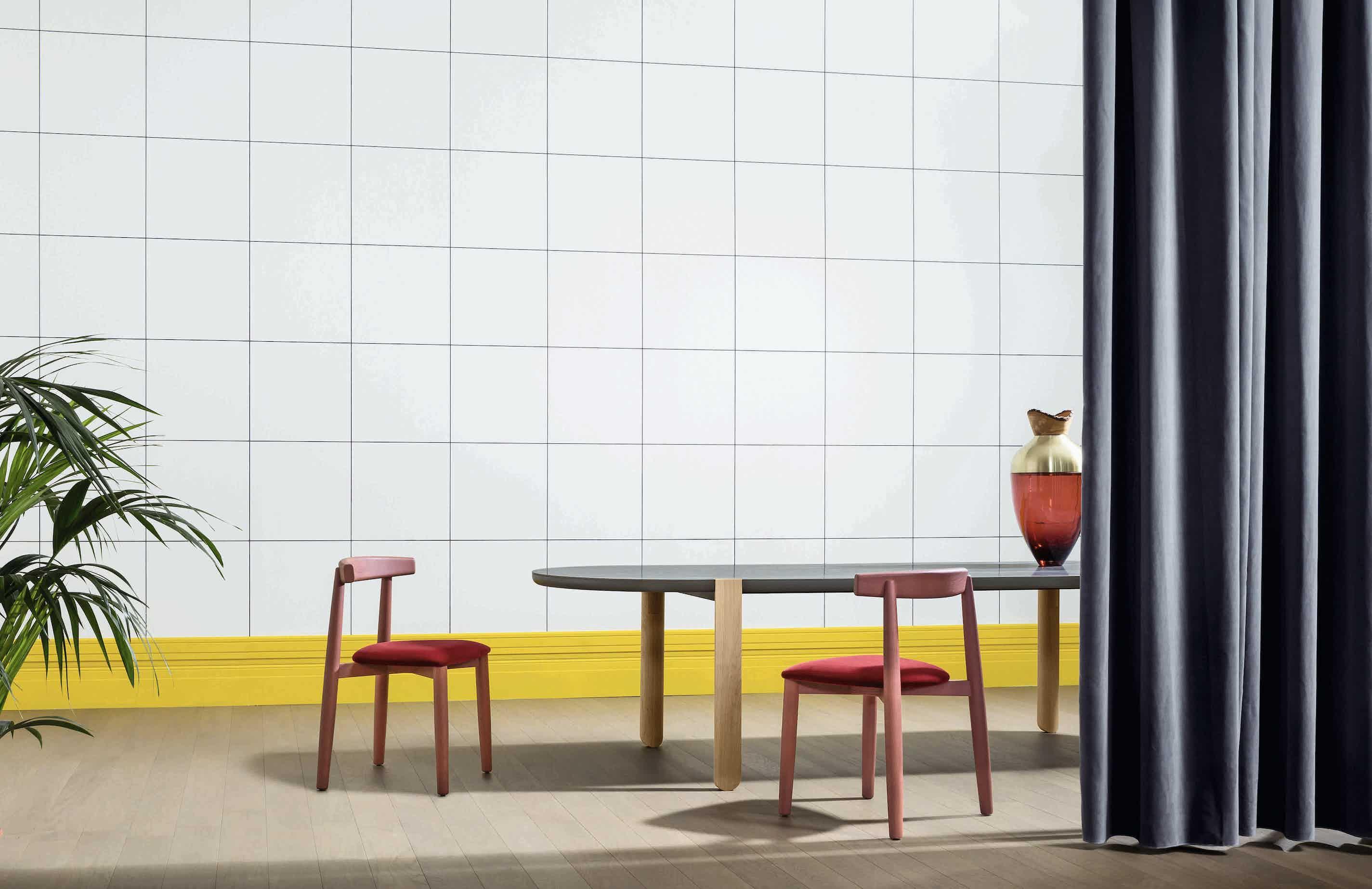 Miniforms claretta bold red insitu haute living