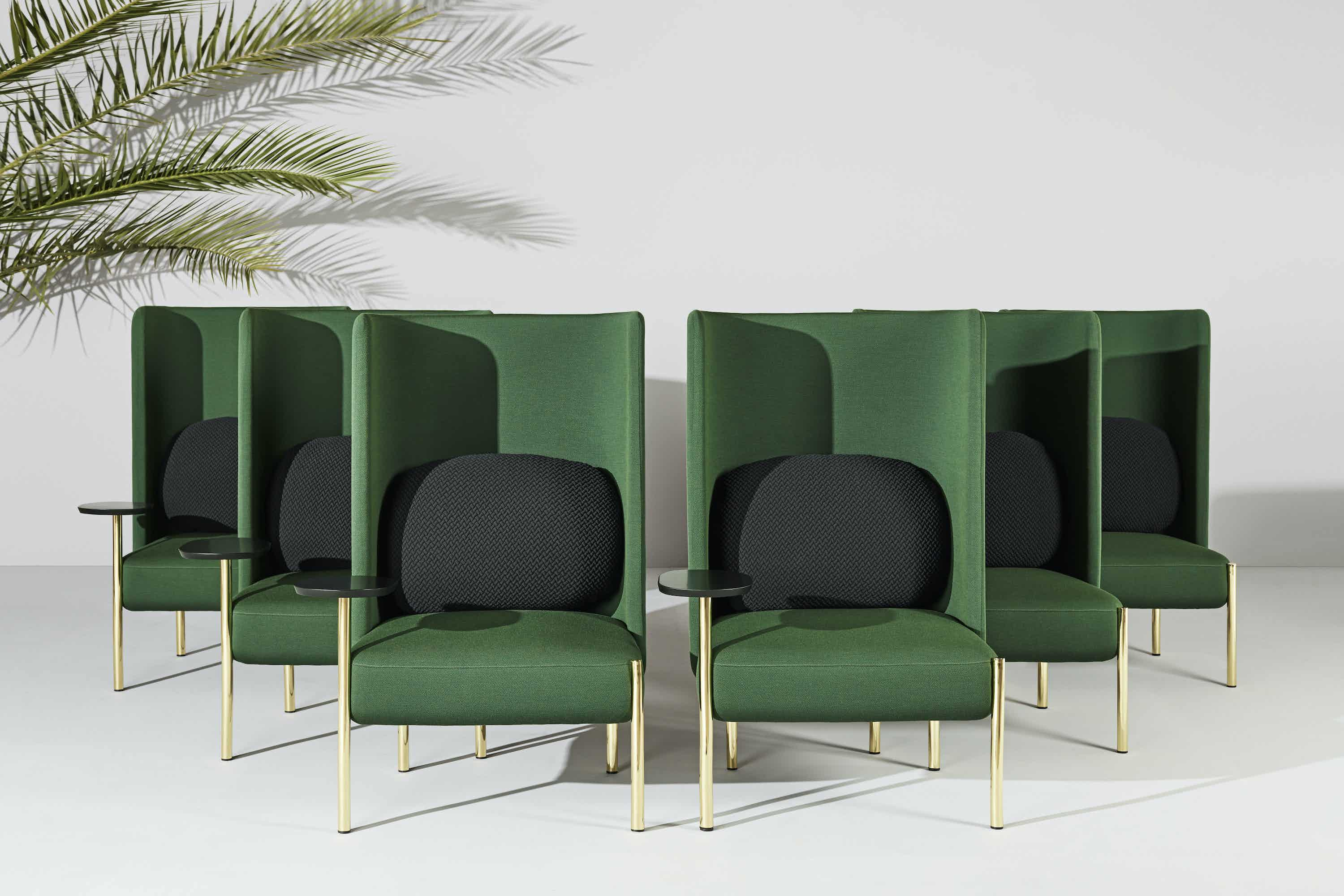 Missana ara chair green insitu haute living