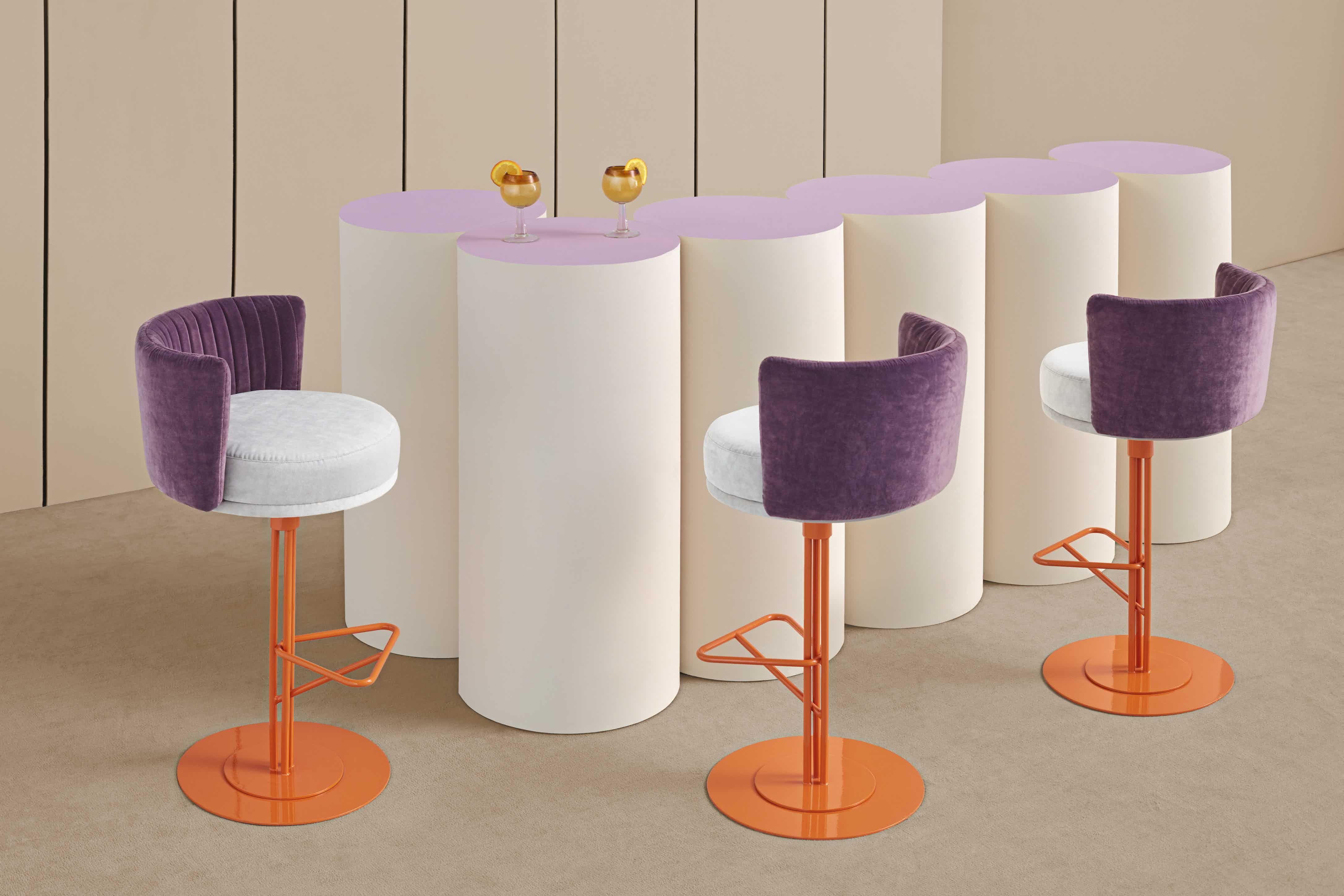 Missana-orange-athens-barstool-insitu-haute-living