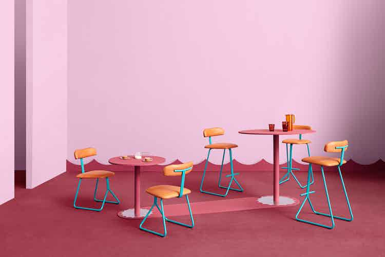 Missana rider chair pink insitu haute living