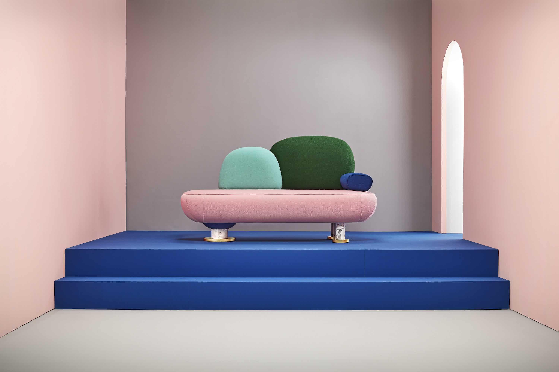 Missana toadstool sofa bench haute living