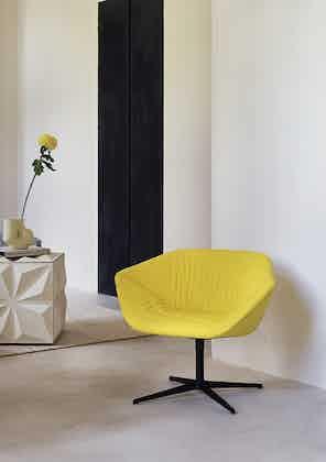 Montis ella soft chair yellow haute living