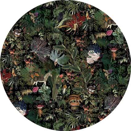 Moooi carpets extinct animals menagerie round haute living