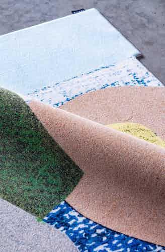 Moooi carpets handwriting fold haute living