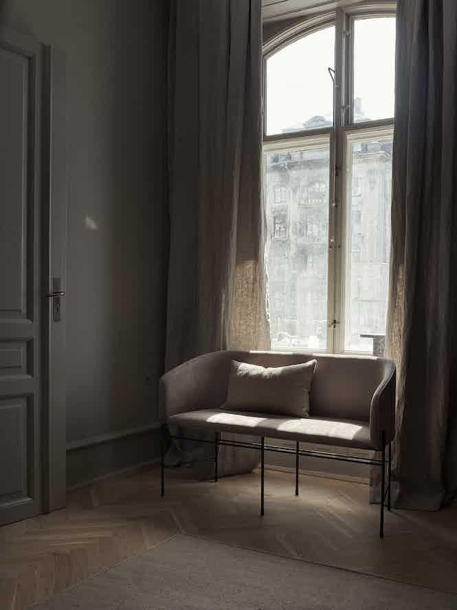 New works furniture covent love seater insitu haute living