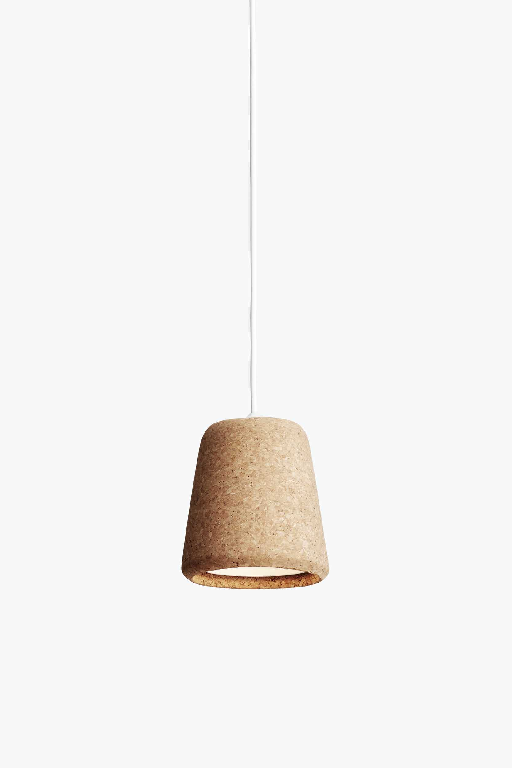 New works furniture material pendant natural cork grey haute living