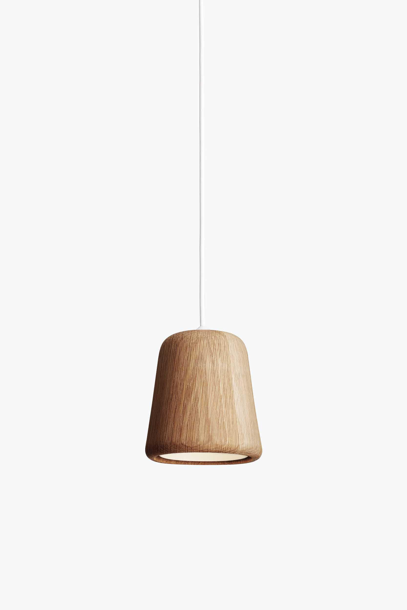 New works furniture material pendant natural oak grey haute living