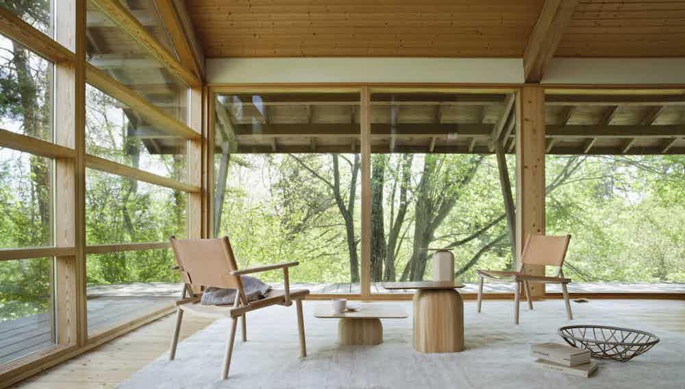 Nikari furniture april coffee table insitu living haute living