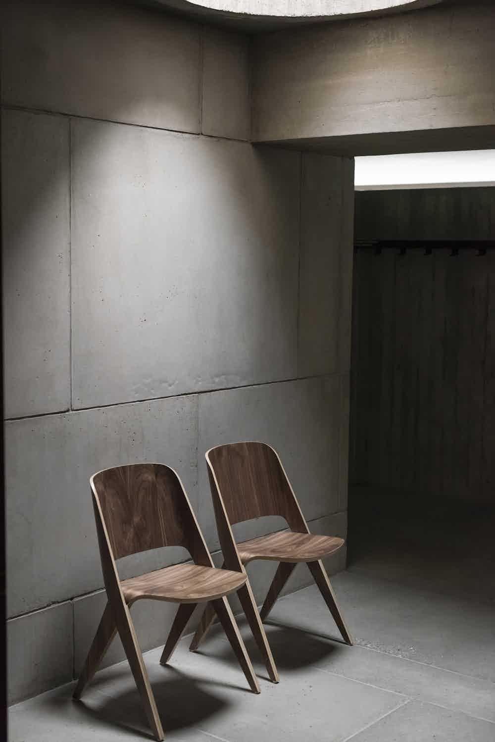 Poiat walnut lavitta chairs duo insitu haute living