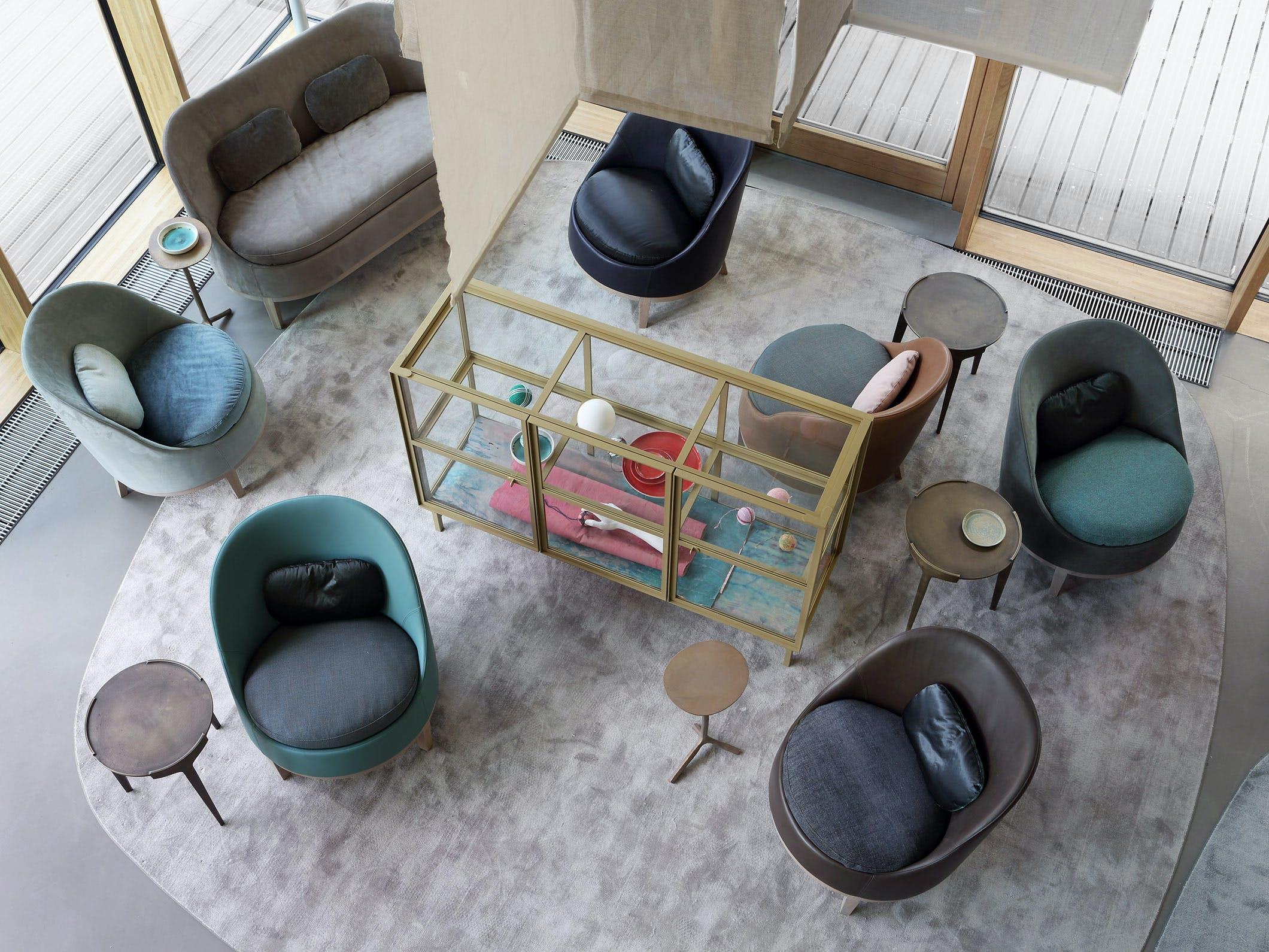 Product Design Living Milan Furniture Fair 2015 Belle Armchair Loveseat Finn Cabinet Hero Klink Side Table Ec 015 Big