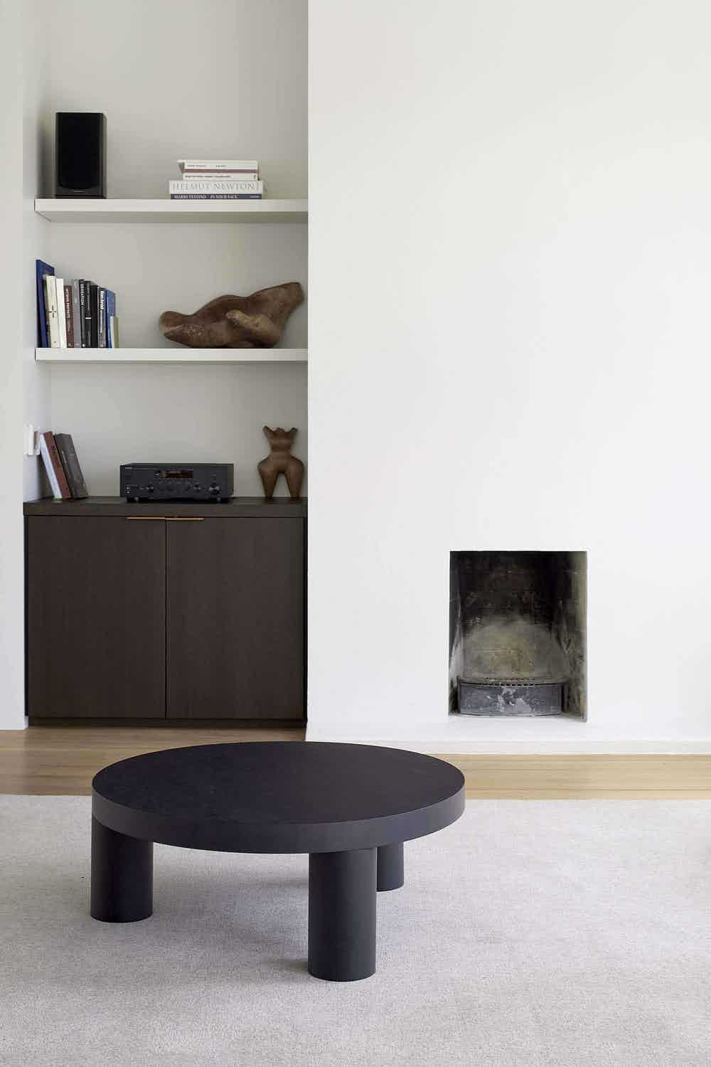 Resident furniture offset coffee table black insitu haute living