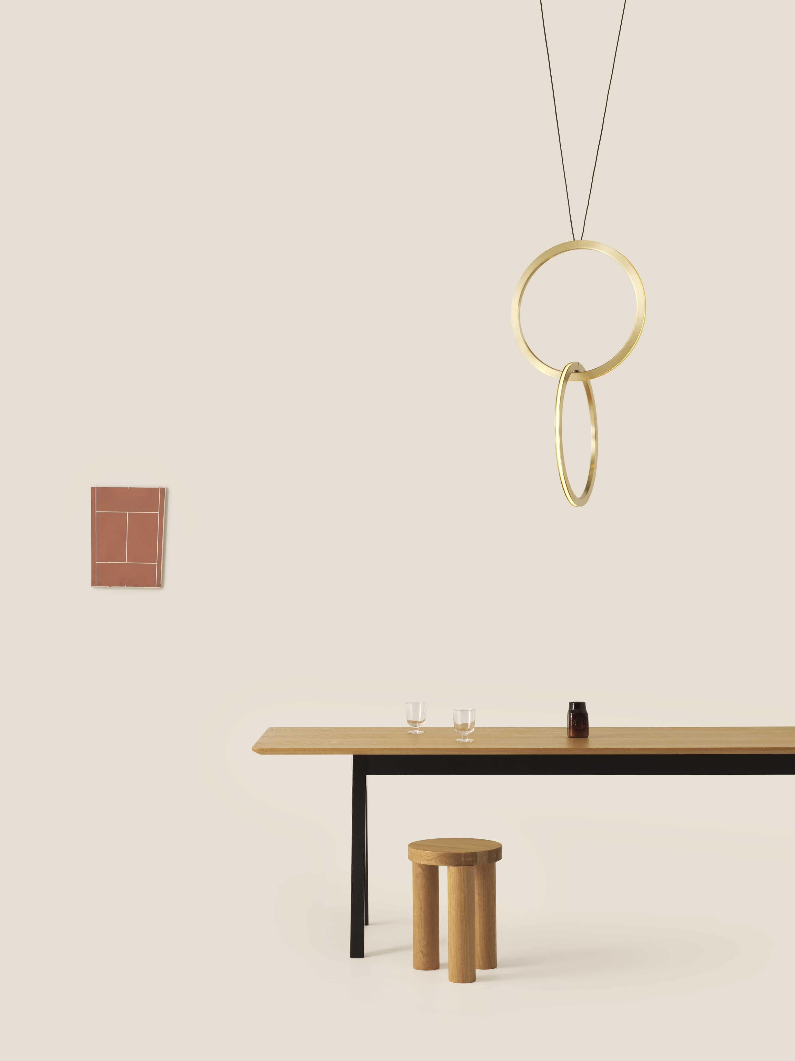 Resident furniture offset stool table insitu haute living