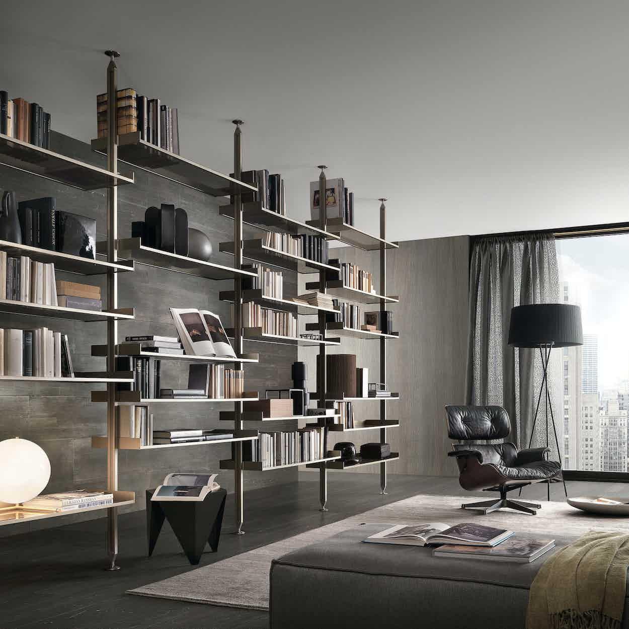 Rimadesio zenit storage unit angle insitu haute living
