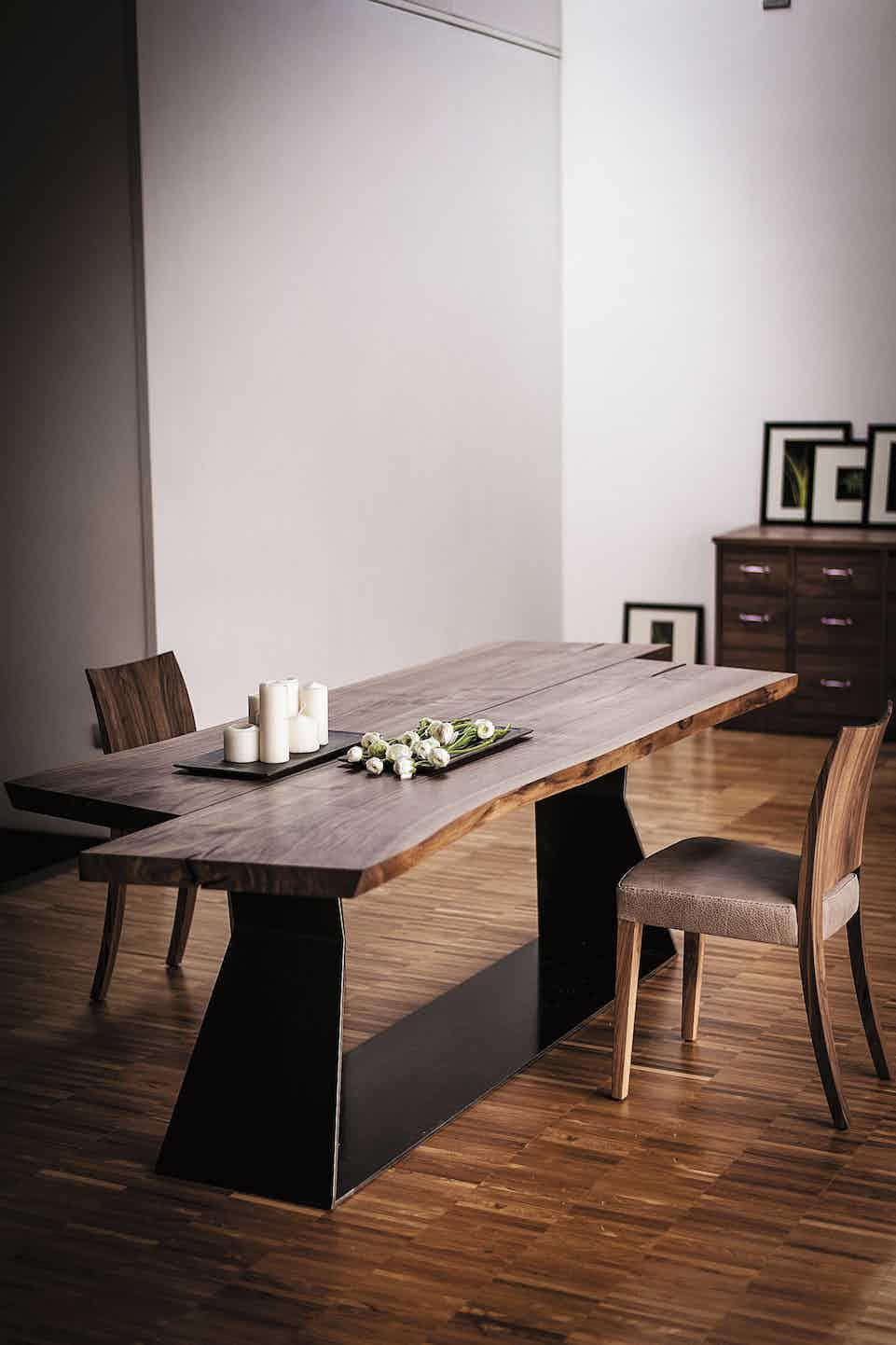 Riva 1920 bedrock plank table insitu haute living