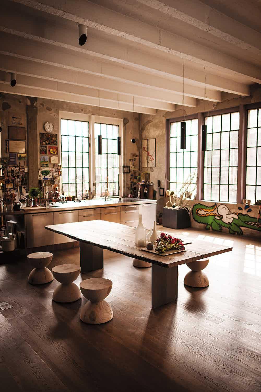 Riva 1920 clessidra stool insitu haute living
