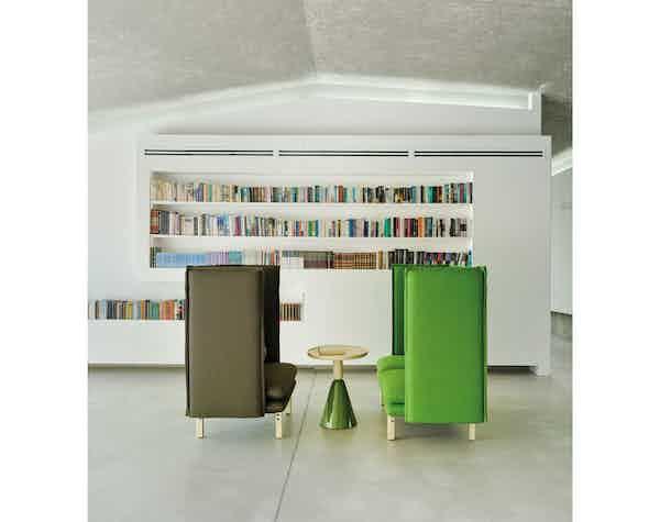 Sancal furniture pion table insitu green haute living
