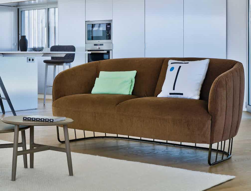 Sancal furniture tonella sofa brown haute living