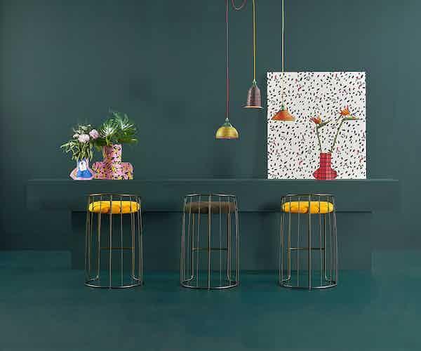 Sancal furniture tonella stool yellow insitu haute living