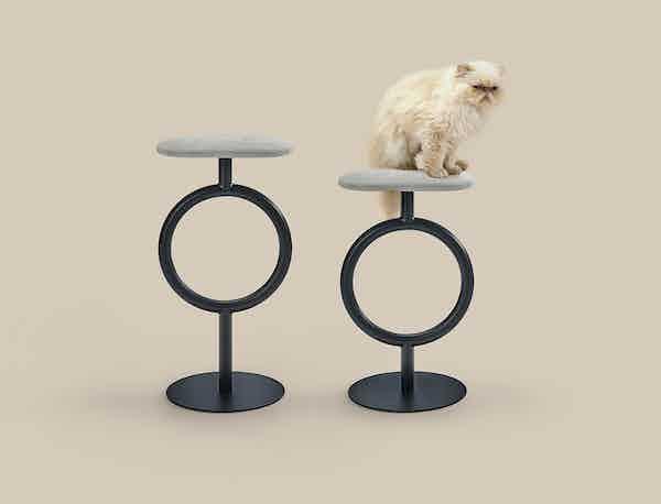 Sancal furniture totem stool grey insitu haute living