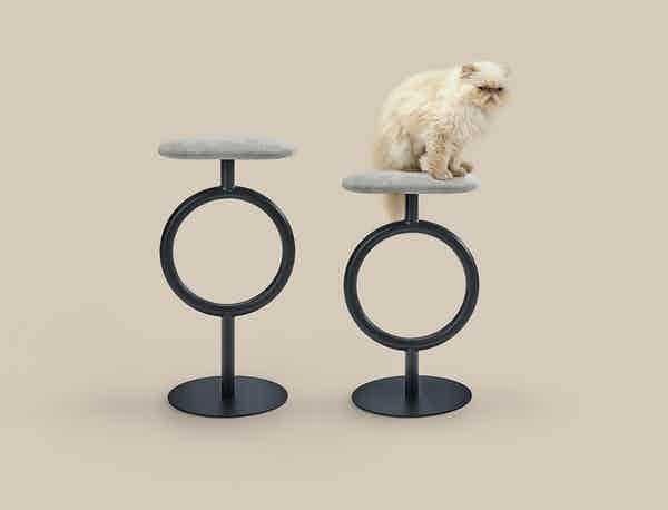 Sancal furniture totem stool grey insitu haute living