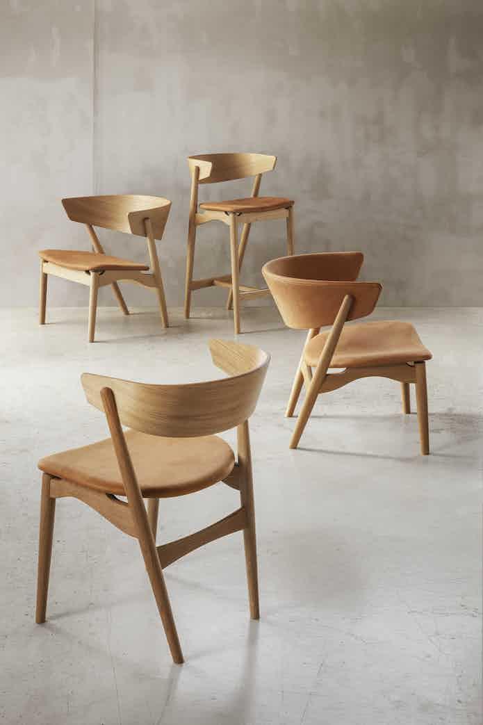 Sibast no 7 lounge chair cognac series haute living