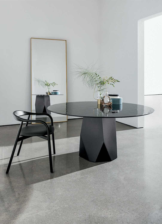 Sovet deod black glass dining table insitu haute living
