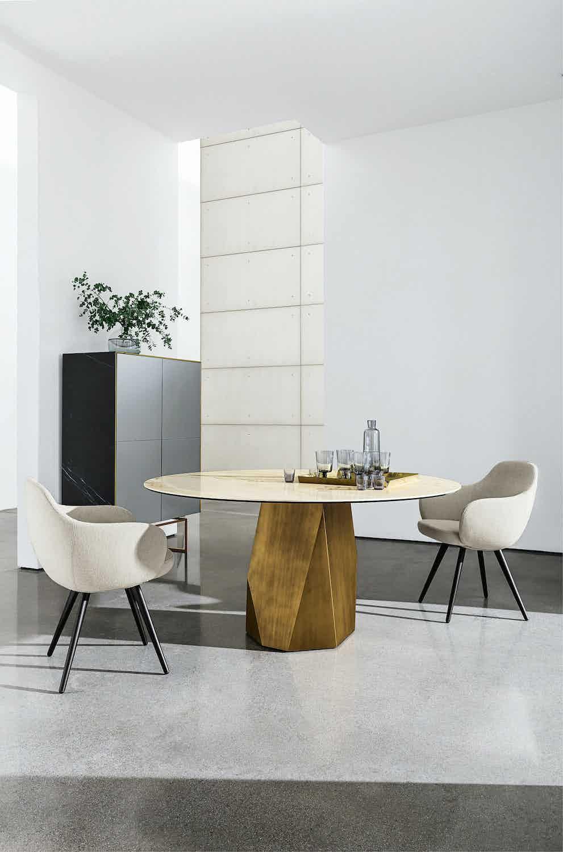 Sovet gold deod dining table insitu haute living