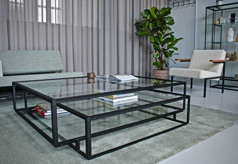 In 2021, the Tangled Square coffee table was added to Carolina Wilcke's Tangled series by Spectrum. The square coffee table is ideal in a spacious seating area, for example in combination with a large corner sofa.