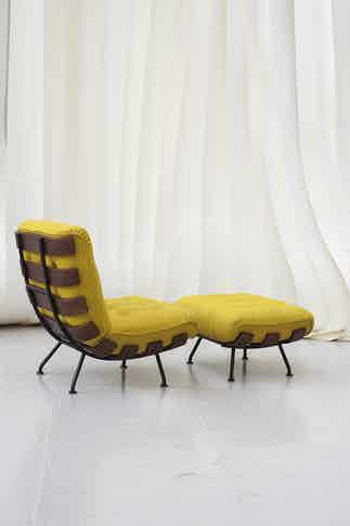 Tacchini furniture costela armchair yellow back haute living copy