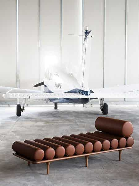 Tacchini furniture five to nine sofa brown chaise haute living copy