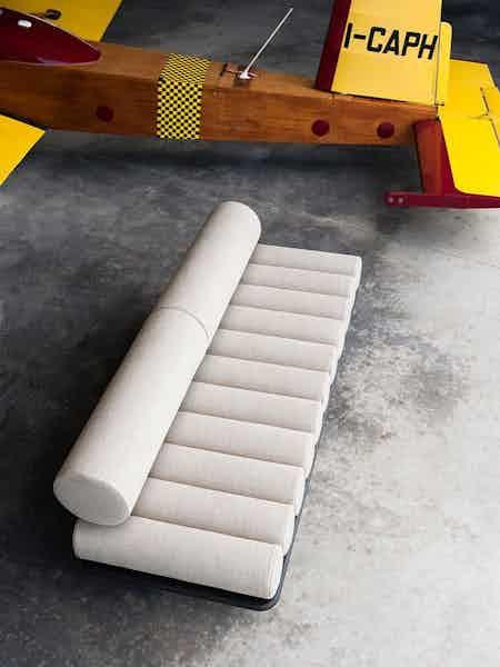 Tacchini furniture five to nine sofa white top haute living