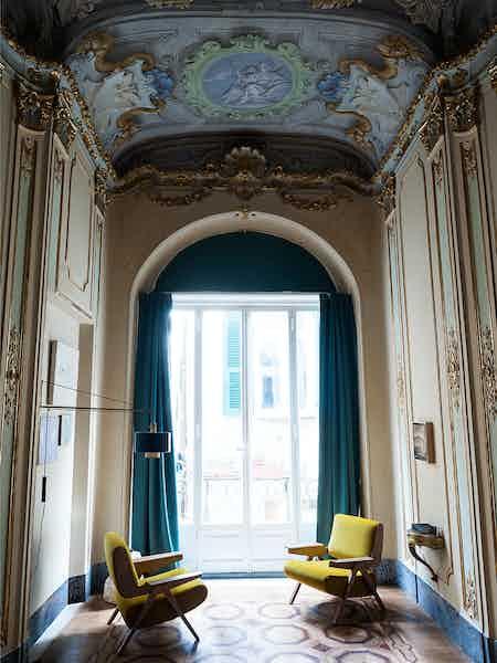 Tacchini furniture lina armchair yellow insitu haute living copy
