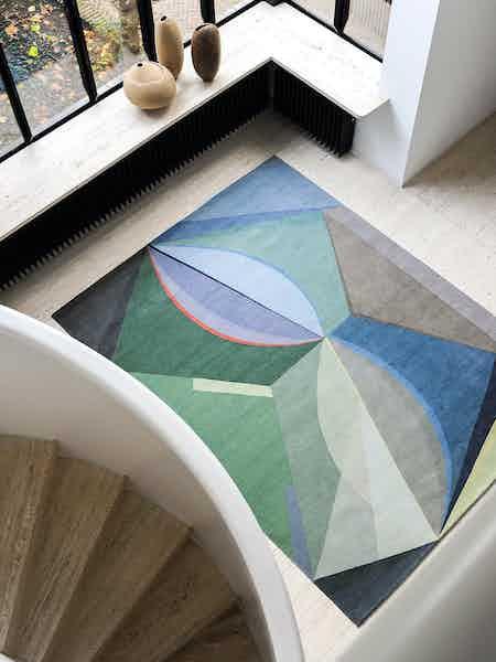 Tacchini furniture narciso rug insitu aerial haute living