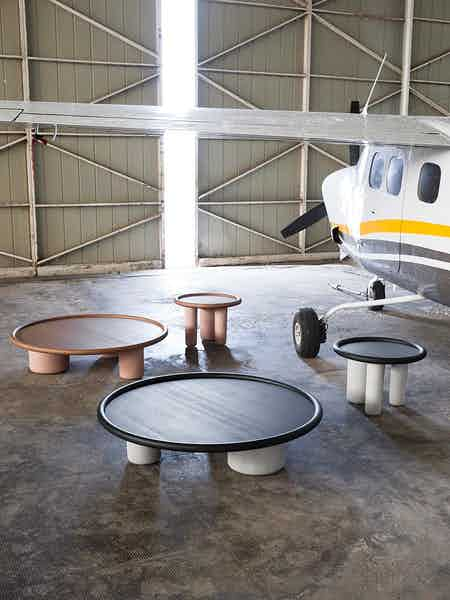 Tacchini furniture pluto table group insitu haute living copy