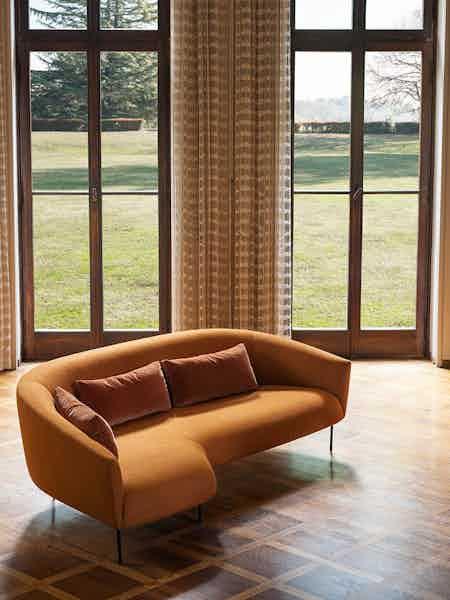 Tacchini furniture roma sofa orange insitu haute living