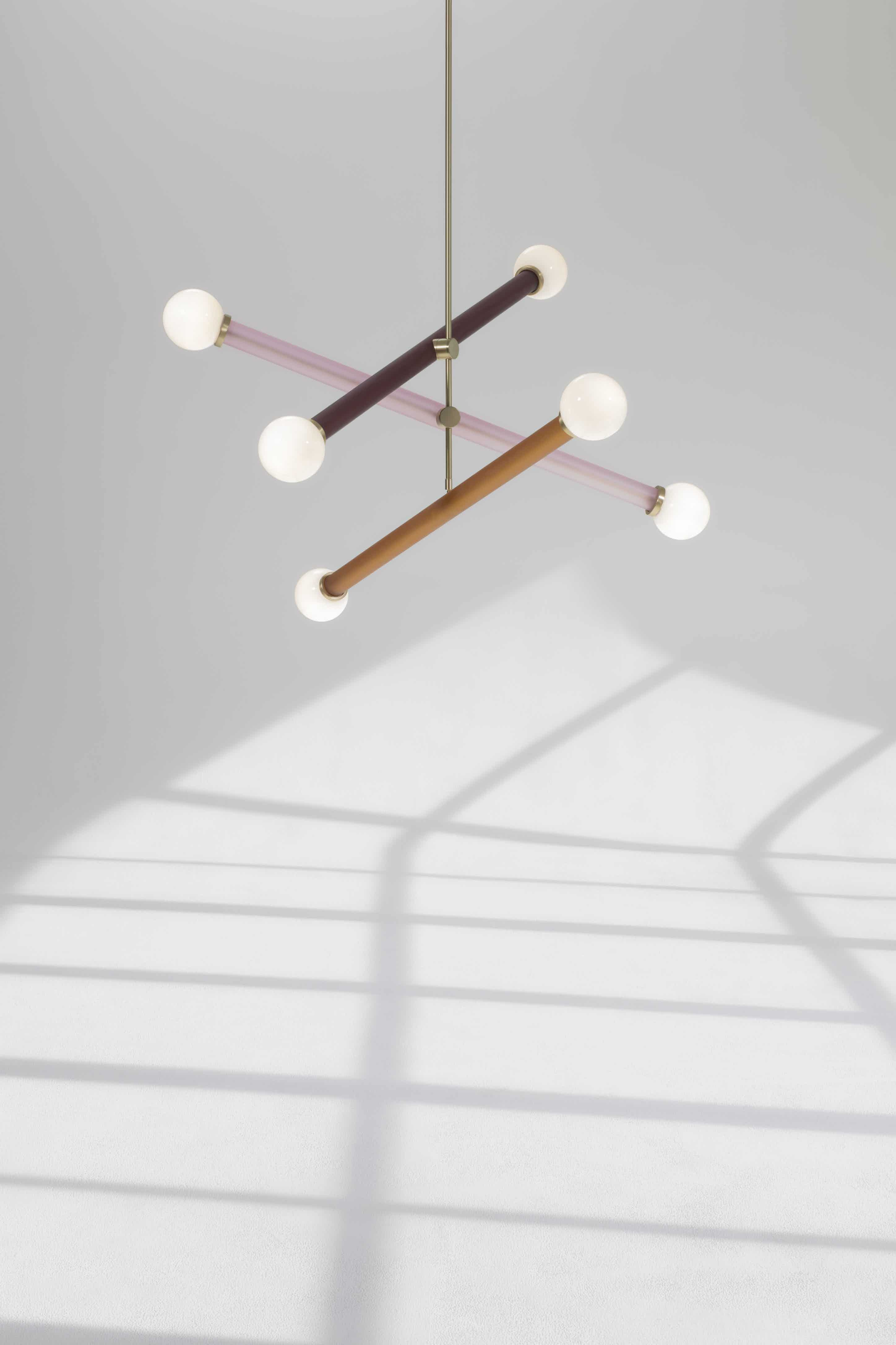 Trueing studio triple elma chandelier haute living