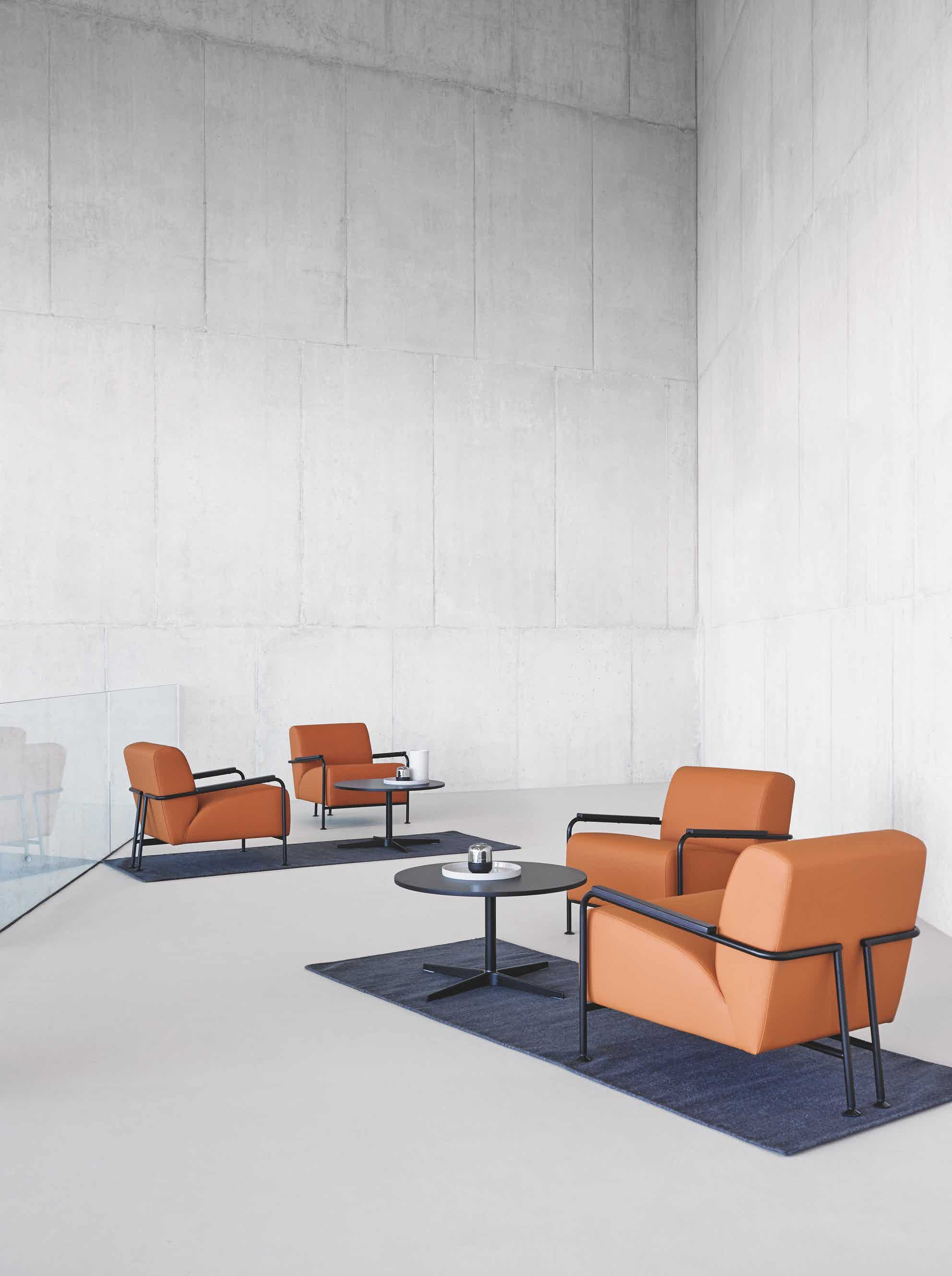 Viccarbe orange collection colubi armchair institu haute living