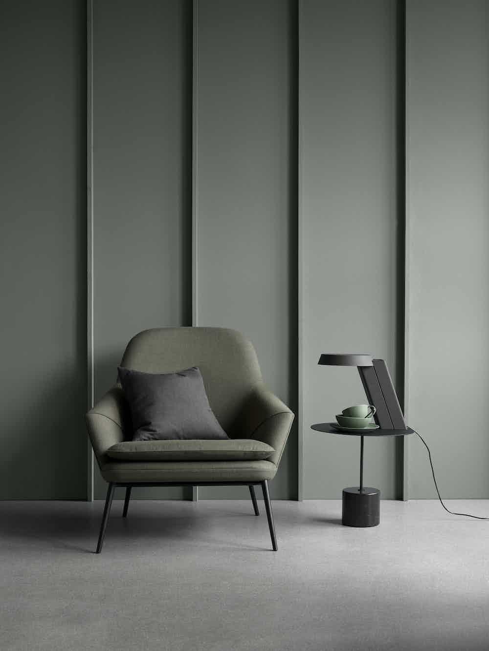 Wendelbo green hug chair front haute living