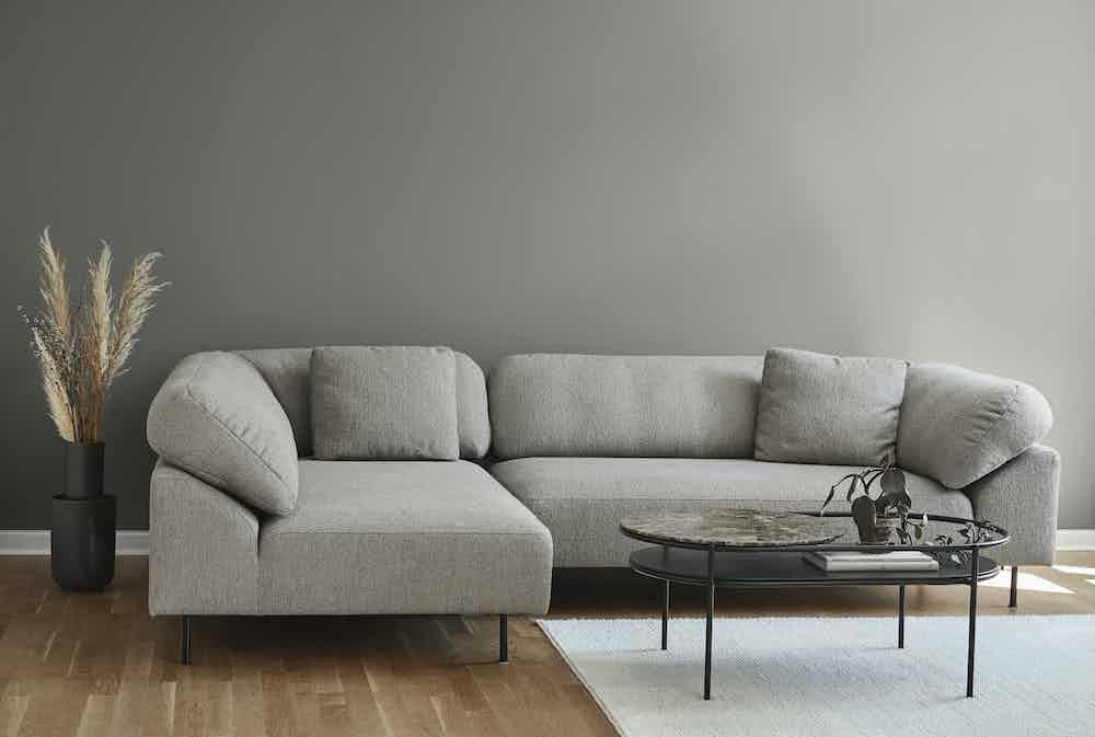 Woud furniture collar modular sofa grey insitu haute living