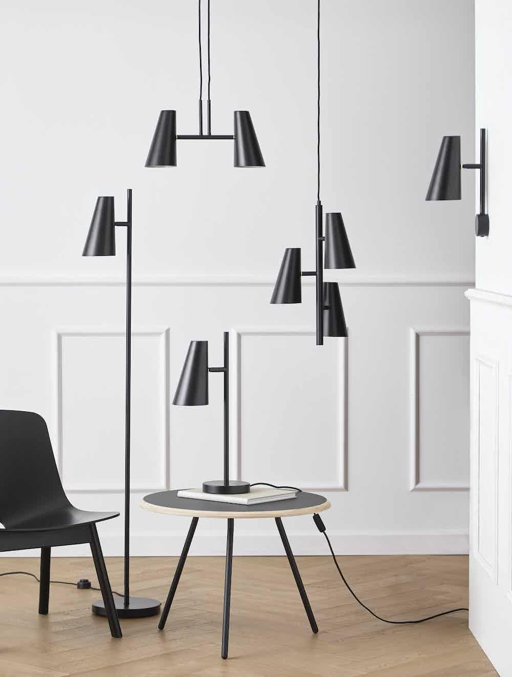 Woud furniture cono pendant 2 shades insitu haute living