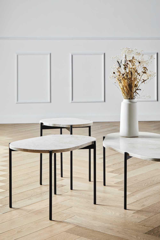 Woud furniture la terra occasional table medium ivory insitu haute living