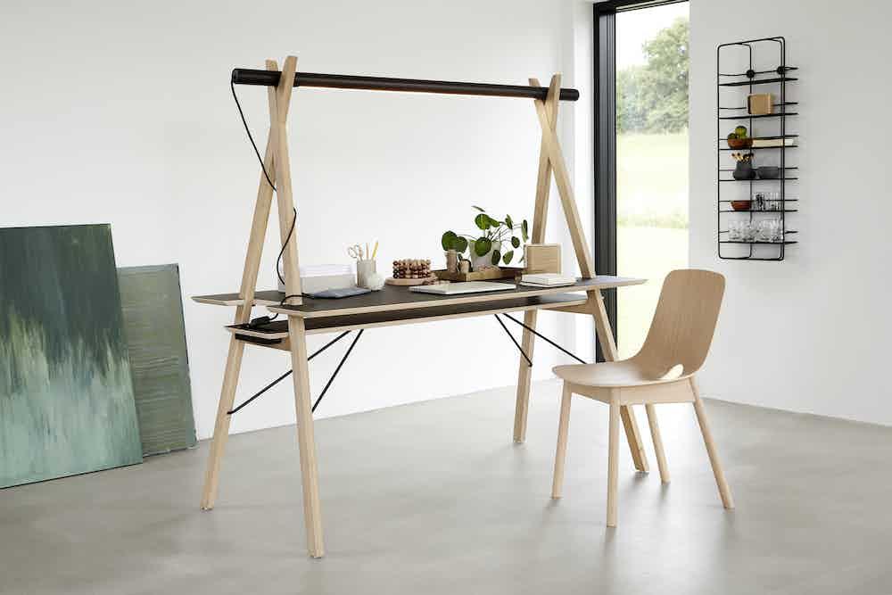 Woud furniture mono dining chair oak desk insitu haute living