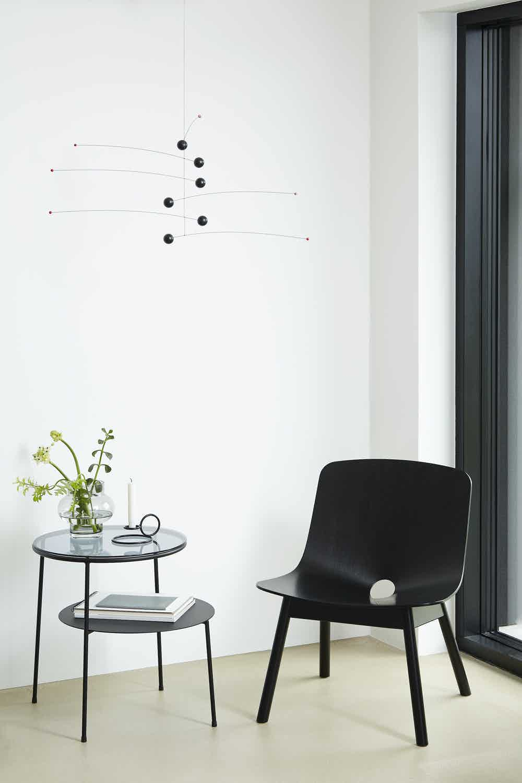 Woud furniture mono lounge chair insitu black haute living
