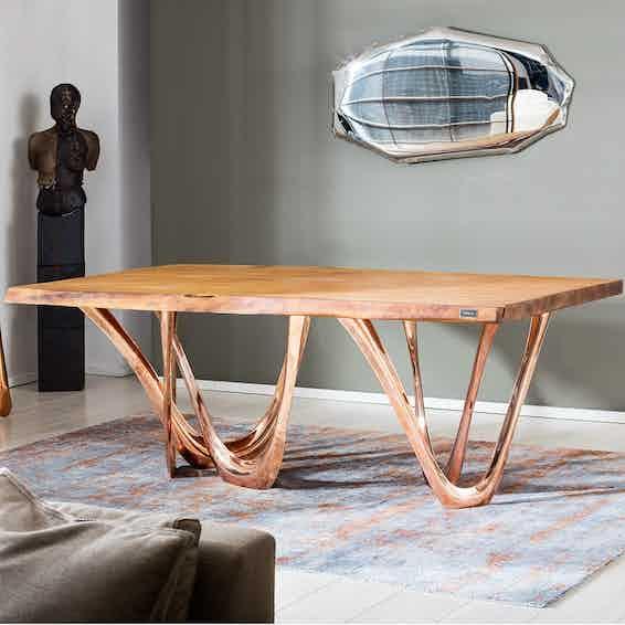 Zieta g table steel gold insitu haute living